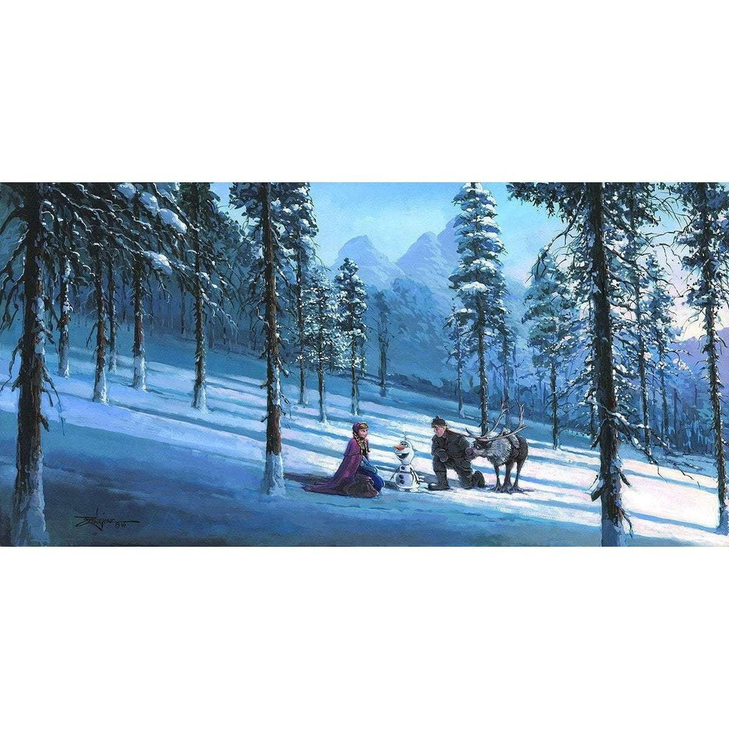 Disney Fine Art Cold Winter's Day Premiere Edition
