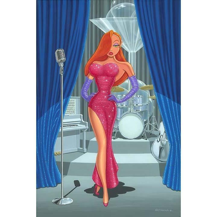 Disney Fine Art Diva in a Red Dress