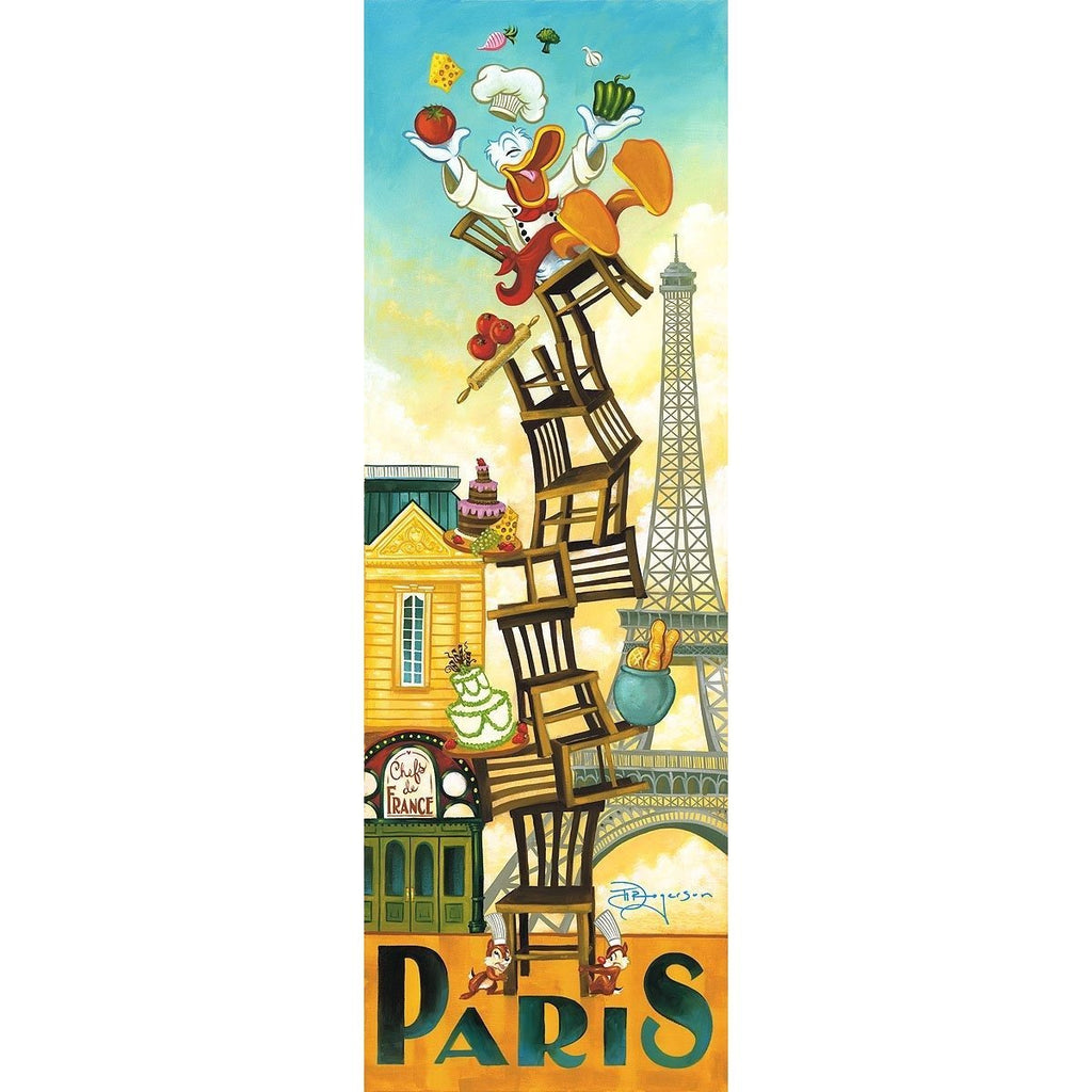 Disney Fine Art Donald's Paris