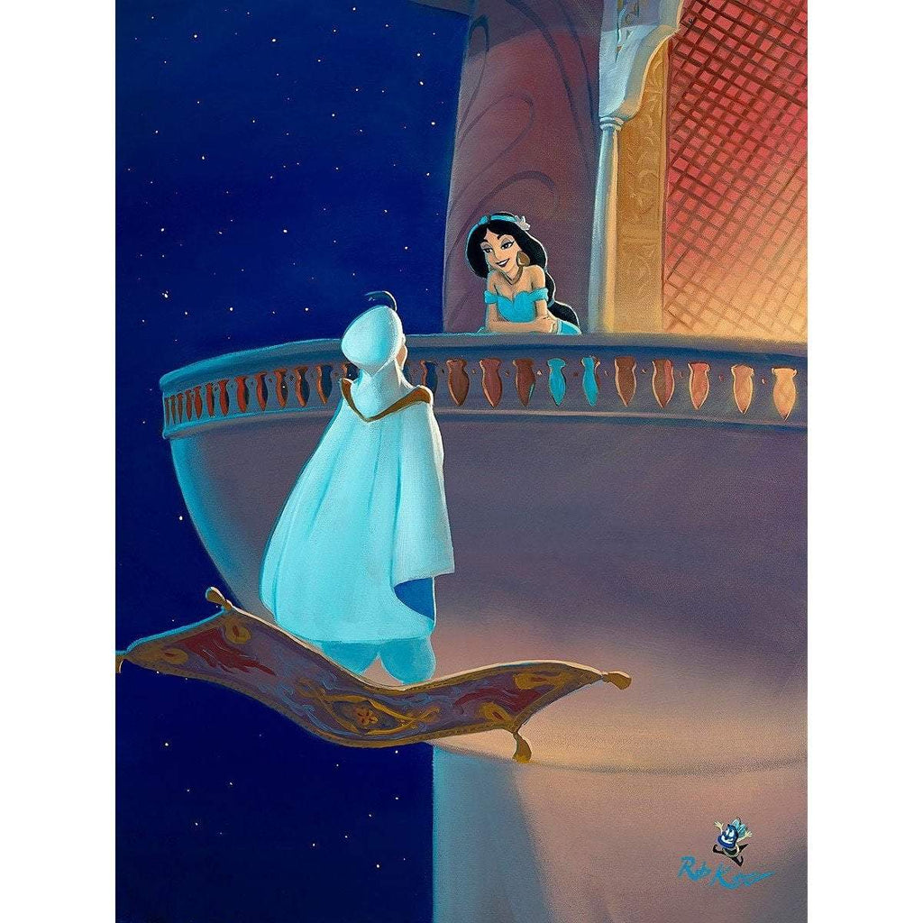 Disney Fine Art Falling for Aladdin