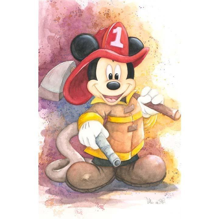 Disney Fine Art Fireman Mickey