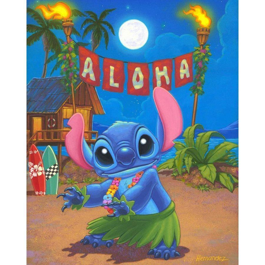 Disney Fine Art Hula Stitch