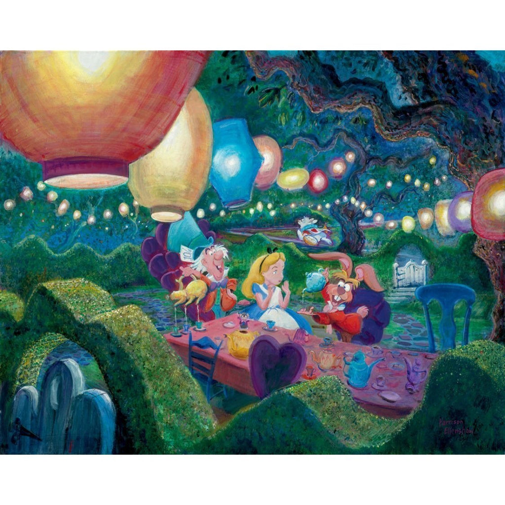 Disney Fine Art Mad Hatter's Tea Party