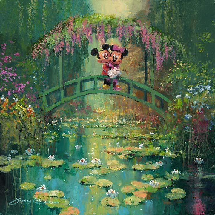 Disney Fine Art Mickey And Minnie At Giverny