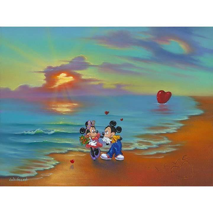 Disney Fine Art Mickey & Minnie's Romantic Day