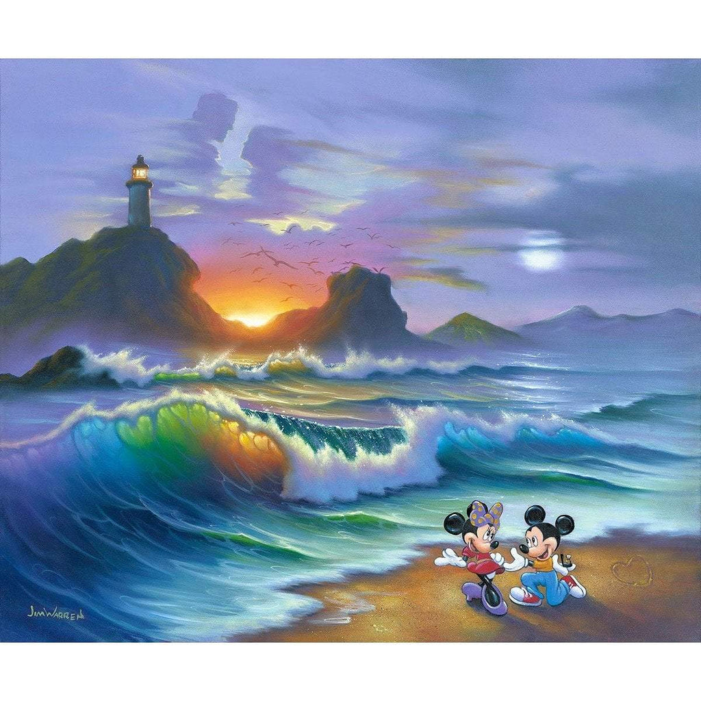 Disney Fine Art Mickey Proposes to Minnie
