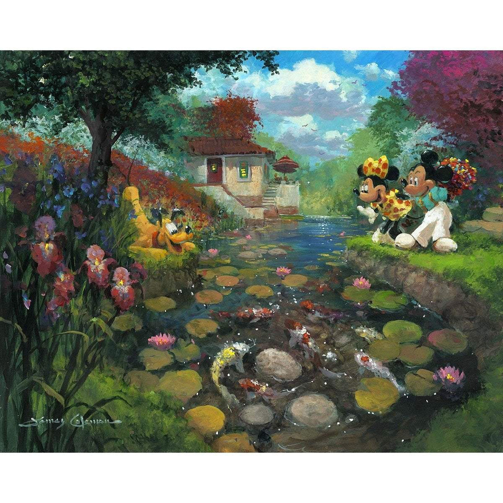 Disney Fine Art Mickey's Koi Pond