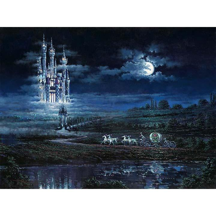 Disney Fine Art Moonlit Castle