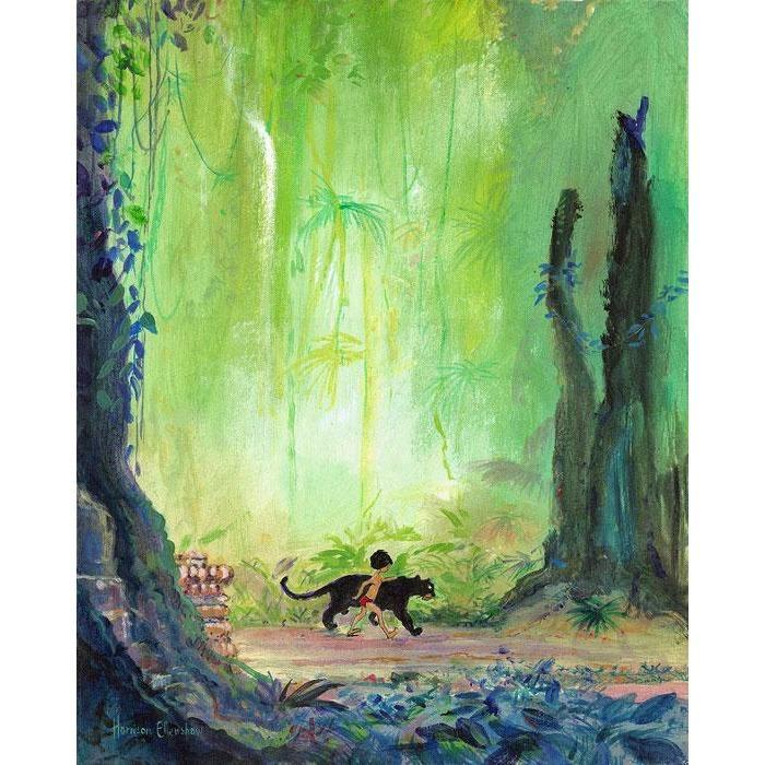 Disney Fine Art Mowgli and Bagheera