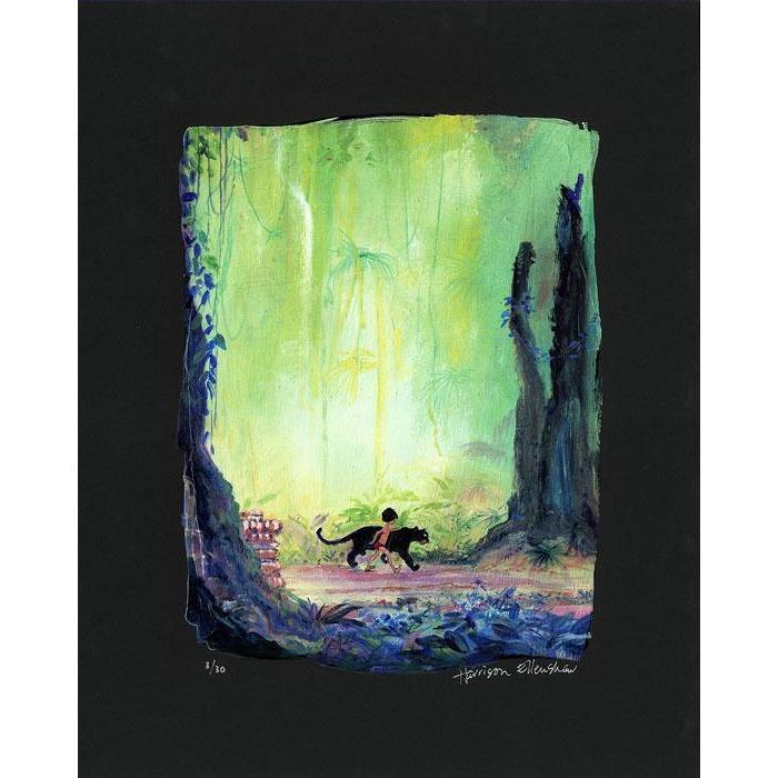 Disney Fine Art Mowgli and Bagheera Premiere