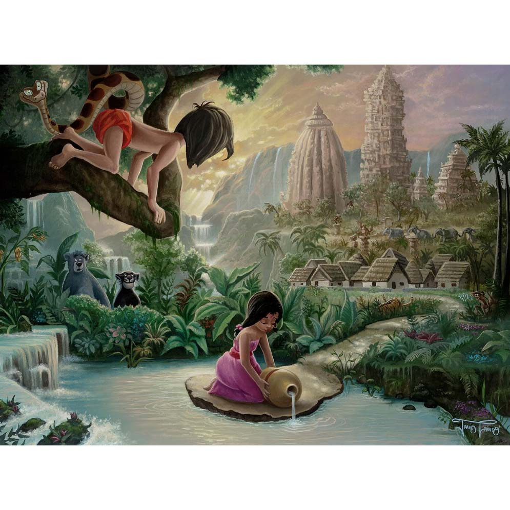 Disney Fine Art - Mowgli's Neighborhood