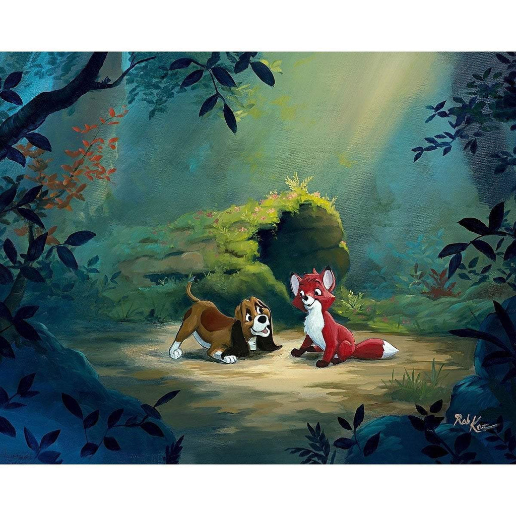 Disney Fine Art New Found Friend In The Forest