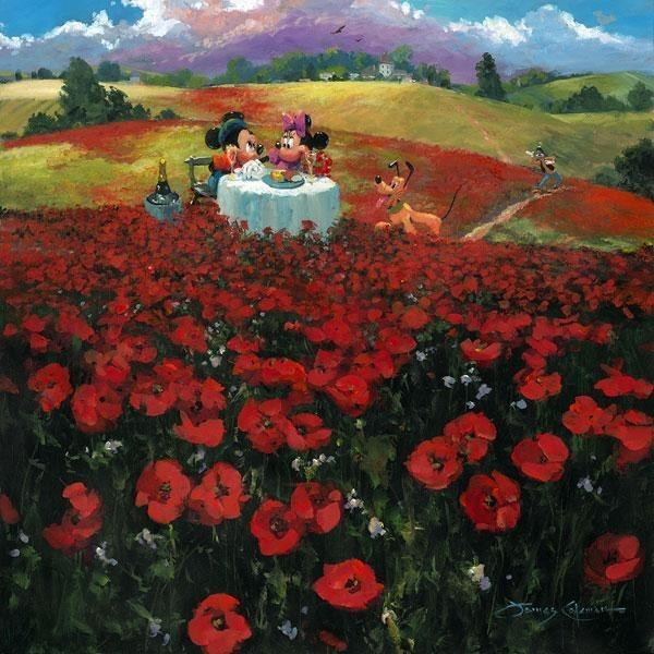 Disney Fine Art Red Poppies