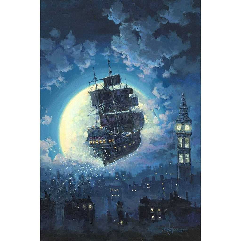 Disney Fine Art Sailing Into The Moon