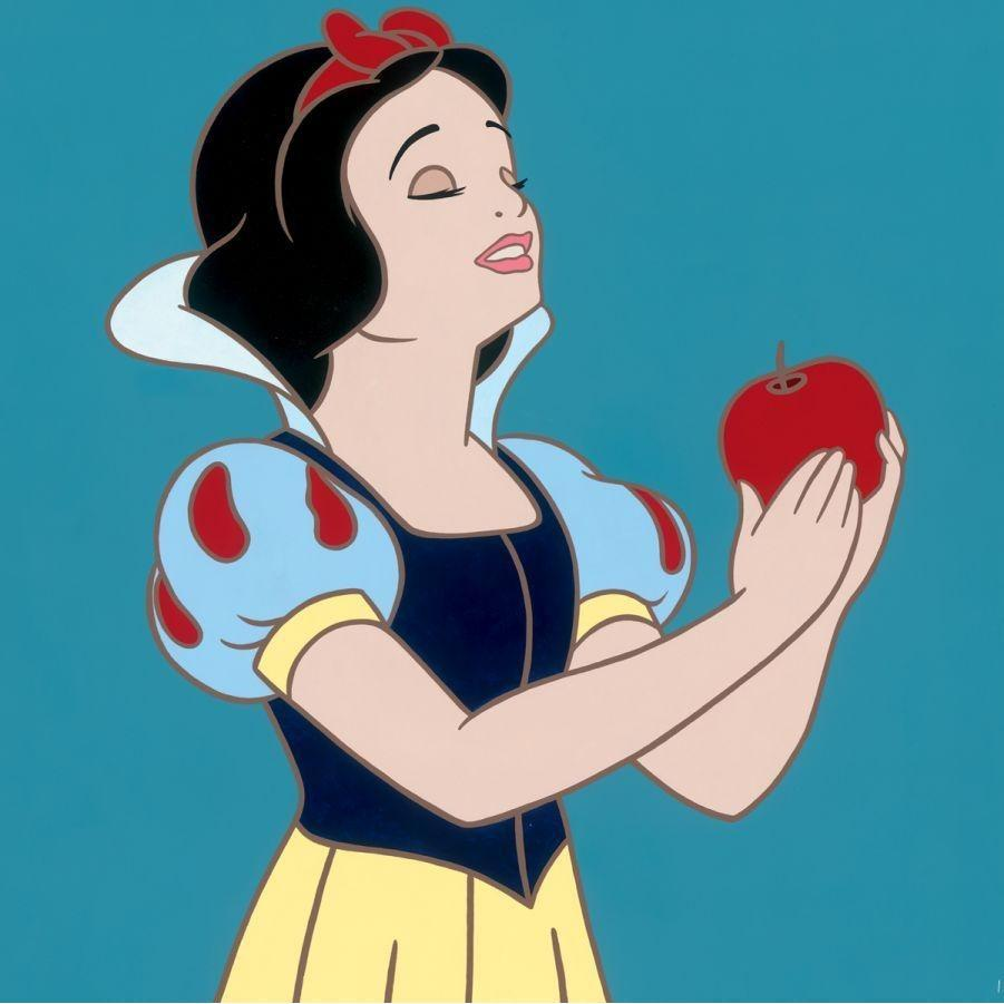 Disney Fine Art Snow White with Apple