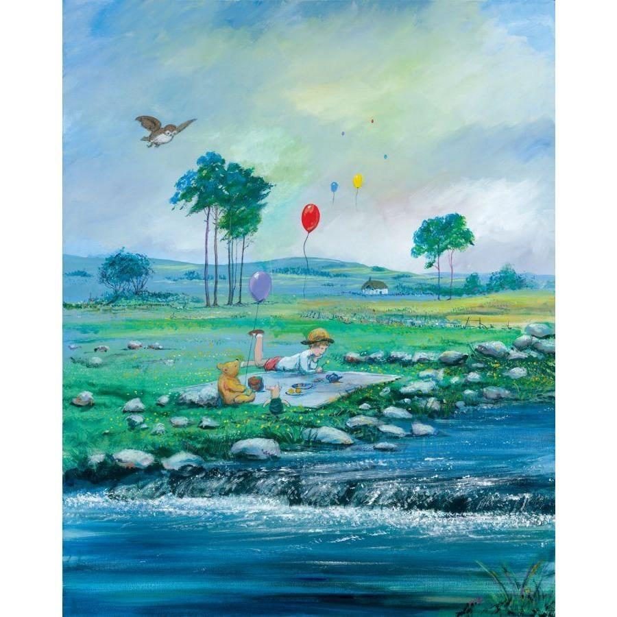 Disney Fine Art Spring in The 100 Acre Wood Deluxe