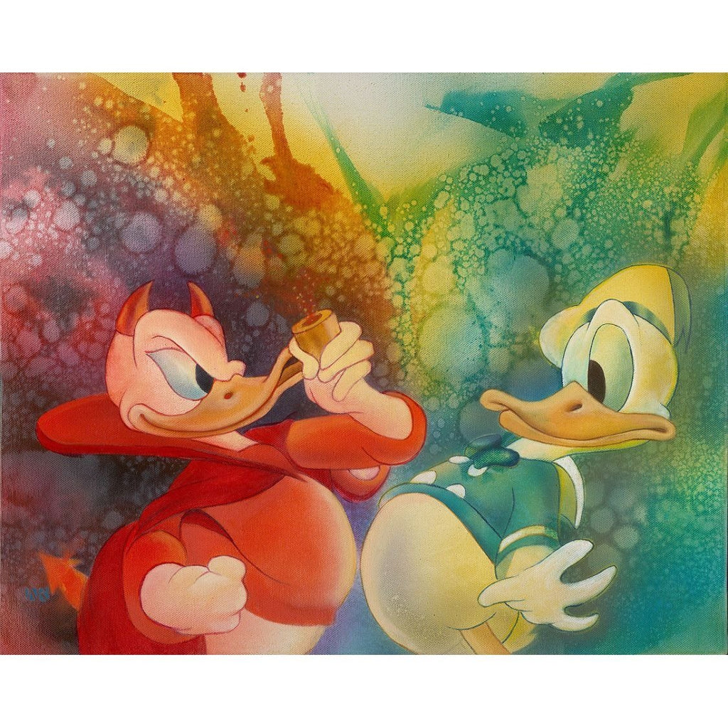 Disney Fine Art The Duality of Donald