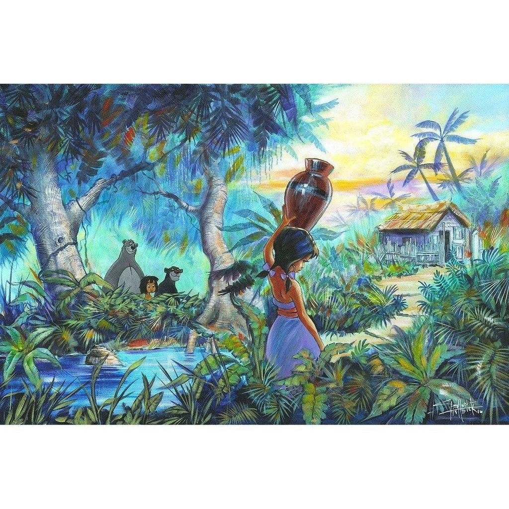 Disney Fine Art The Girl By The Stream