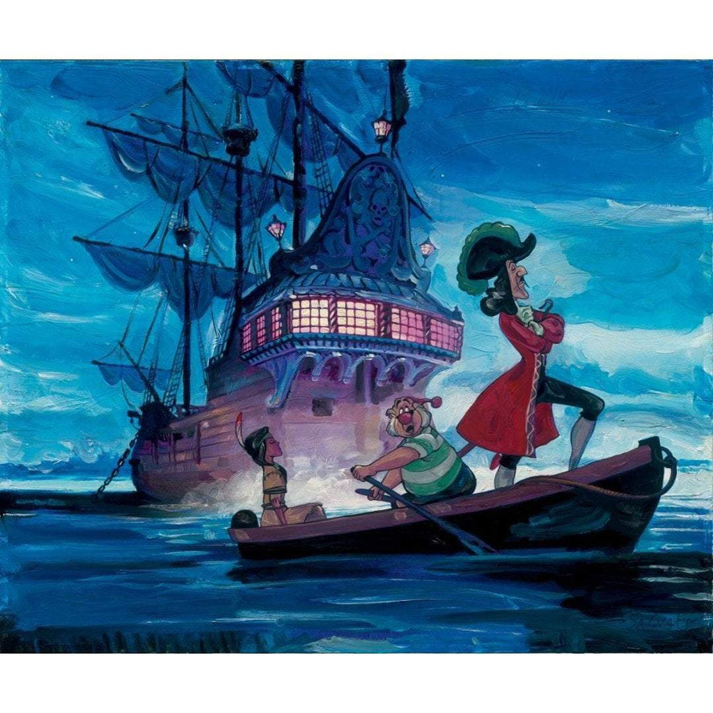 Disney Fine Art Tiger Lily and Hook