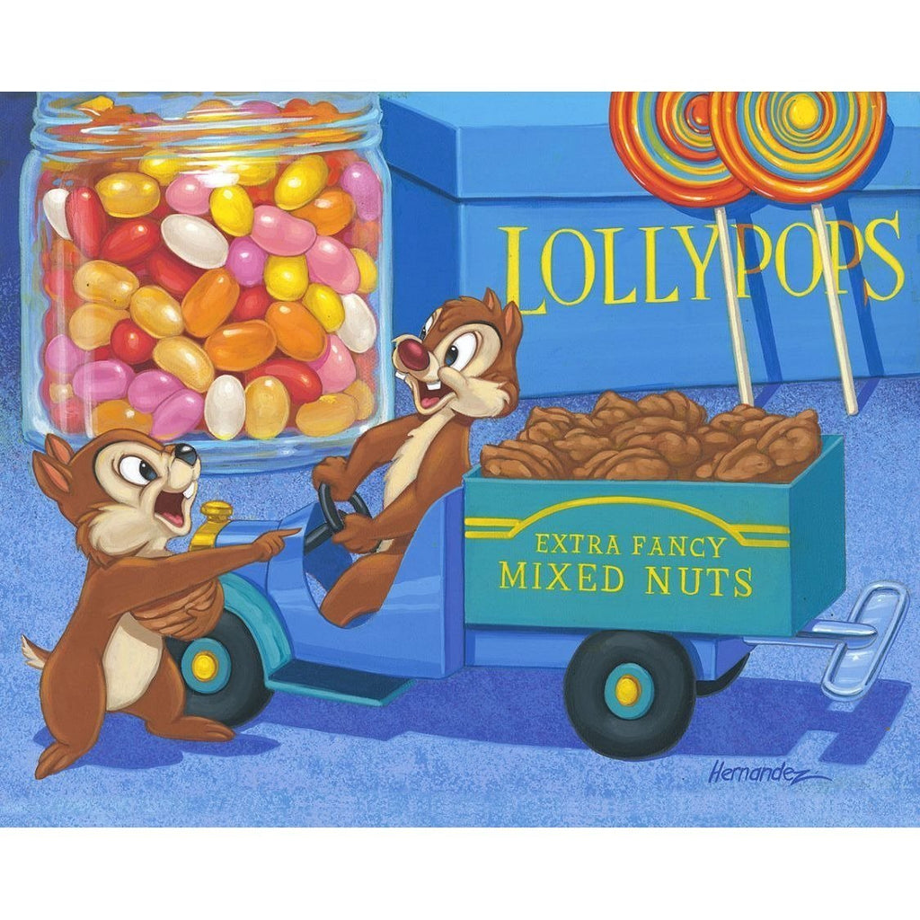 Disney Fine Art Trunk Full of Nuts