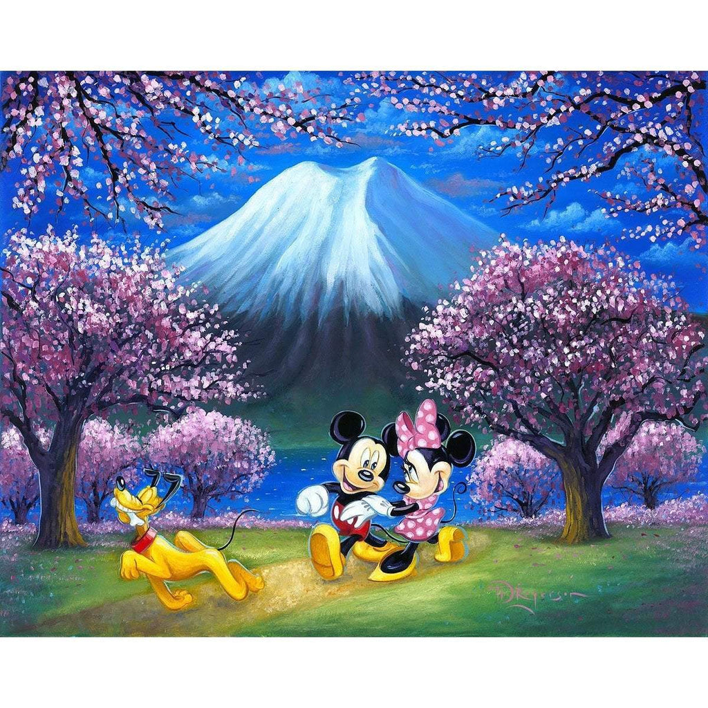Disney Fine Art Under The Cherry Blossoms