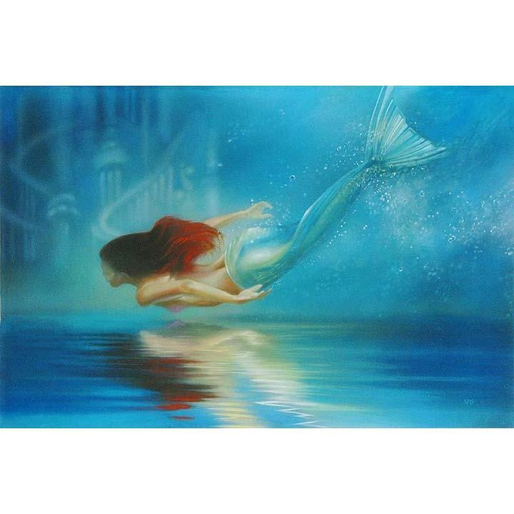 Disney Fine Art Underwater Princess