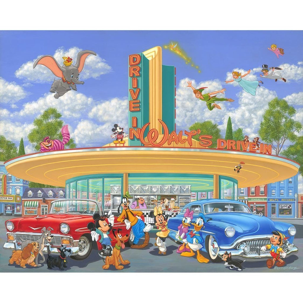 Disney Fine Art Walt's Drive In Deluxe