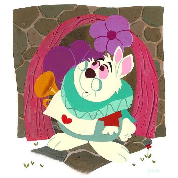 Disney Fine Art White Rabbit