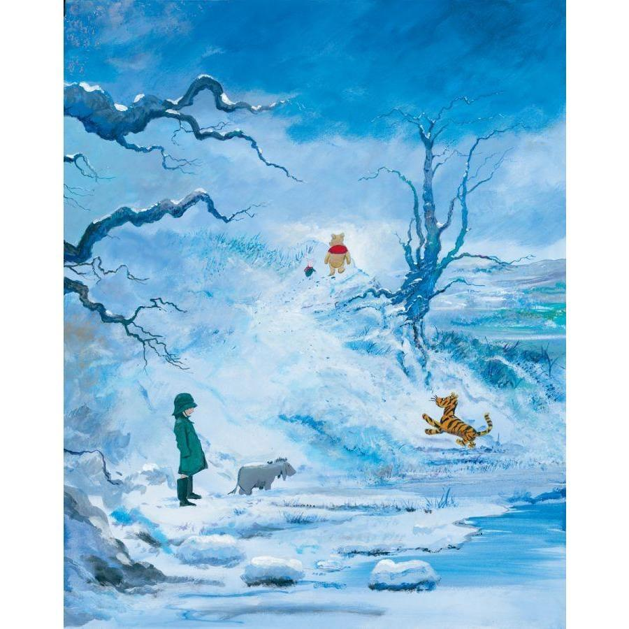 Disney Fine Art Winter in The 100 Acre Wood Deluxe