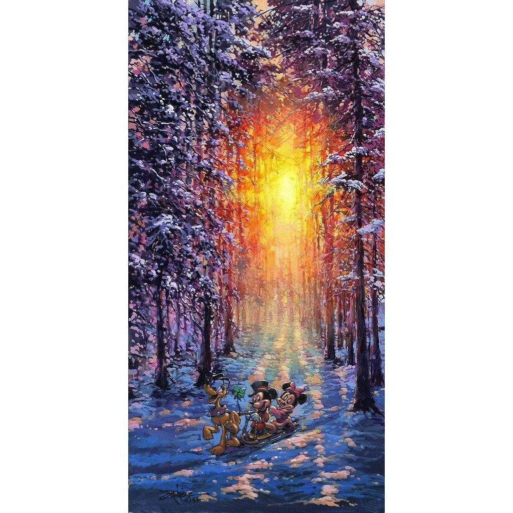 Disney Fine Art Winter Sleigh Ride