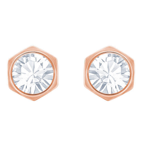 Swarovski Crystal Gold Stud Earrings