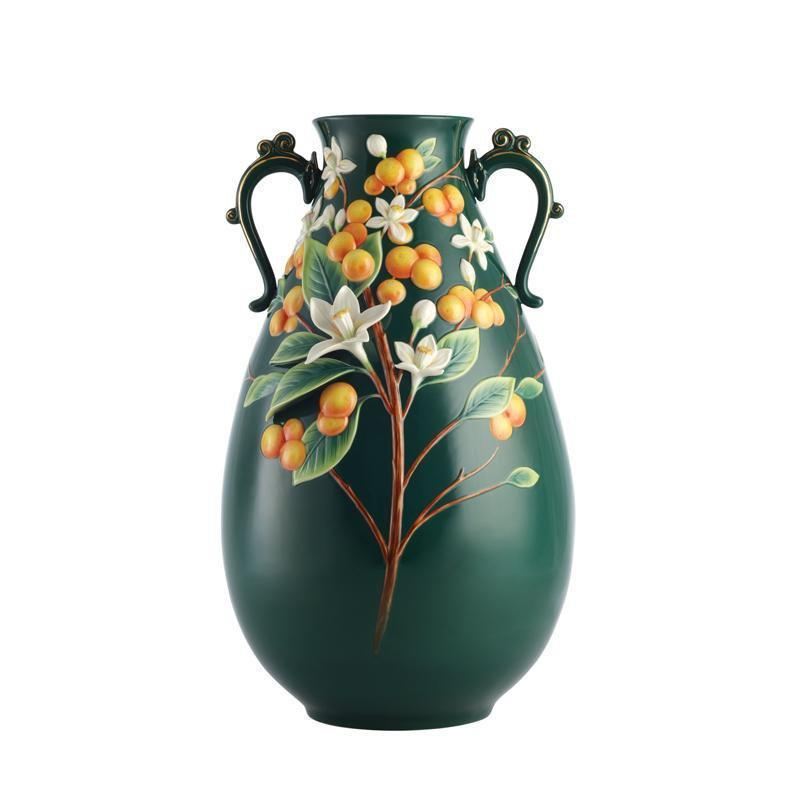 Franz Collection A Golden Harvest Kumquat Vase FZ02908