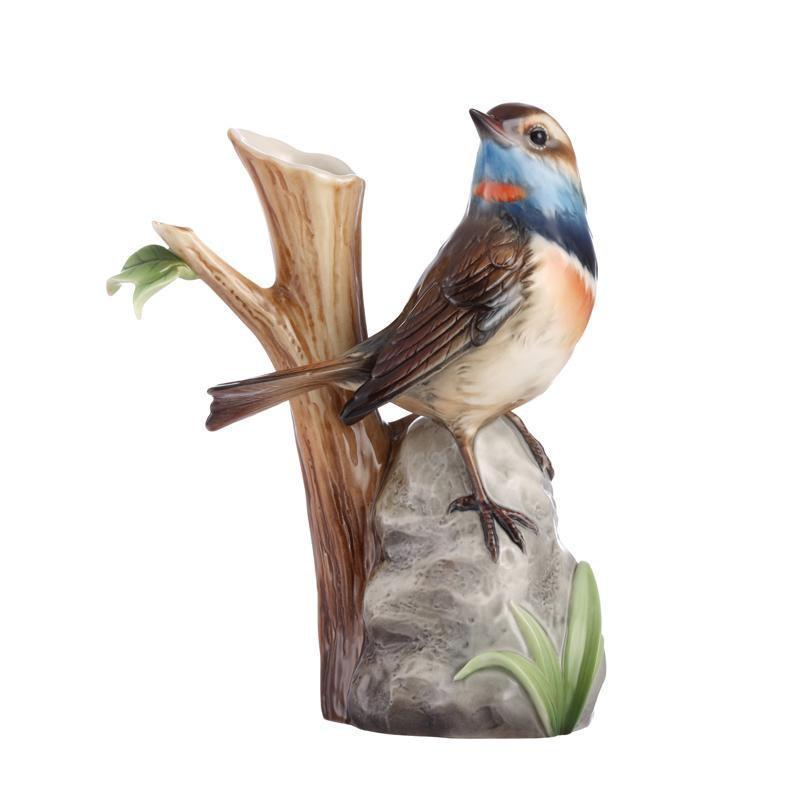 Franz Collection A True Braver Blue Throat Bird Vase Small FZ02885