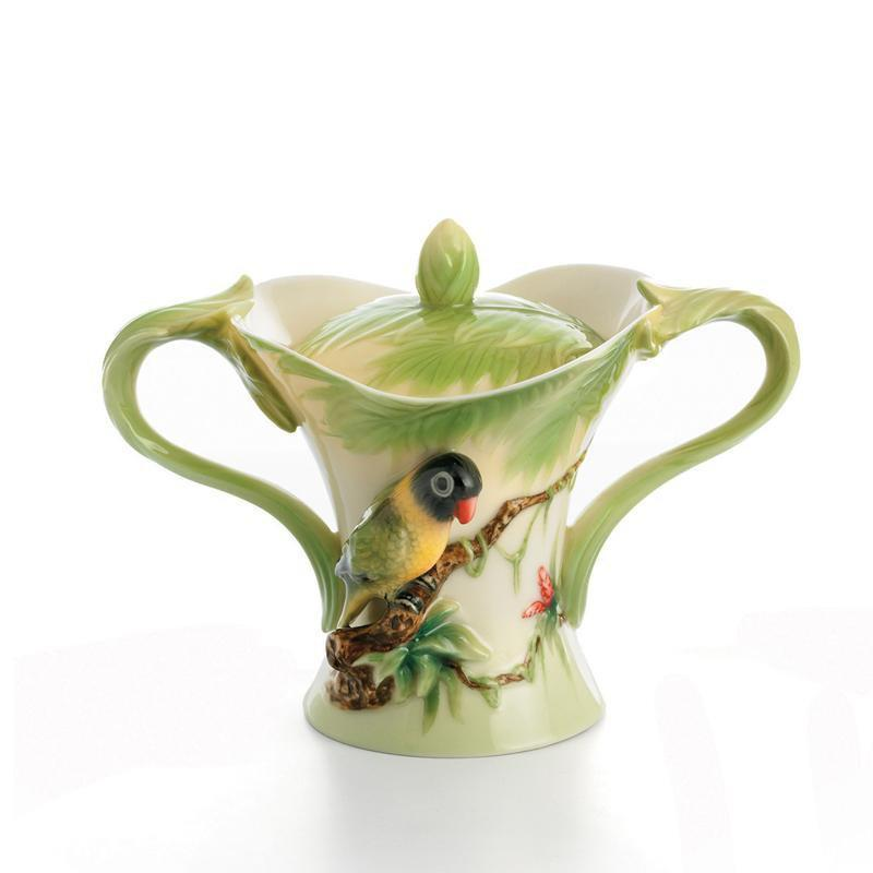 Franz Collection Amazon Rainforest Parrot Sugar Jar FZ00835