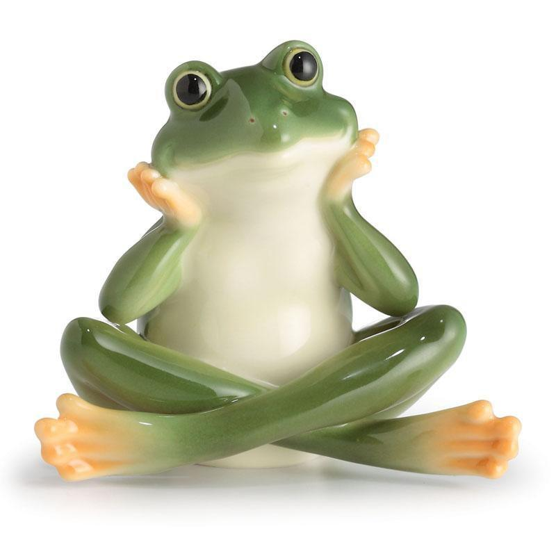 Franz Collection Amphibia Daydreaming Frog Figurine FZ02576