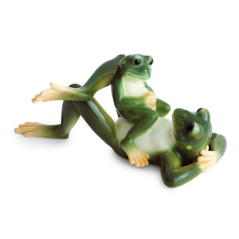 Franz Collection Amphibia Frog Father & Son Figurine FZ00624