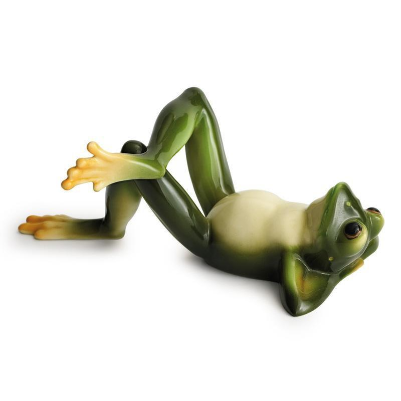 Franz Collection Amphibia Frog Lying Figurine FZ00079