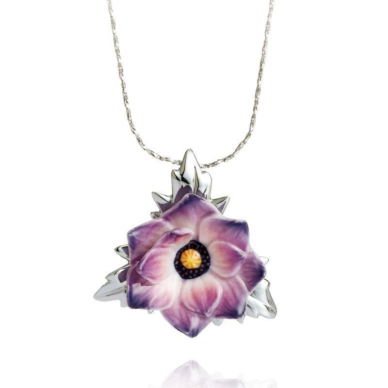 Franz Collection Anemone Flower Necklace FJ00224