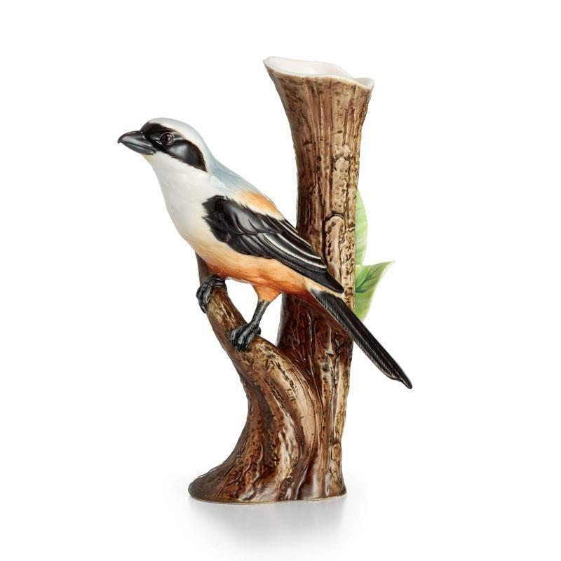 Franz Collection Artist's Palette Long Tailed Shrike Vase Small  FZ02402