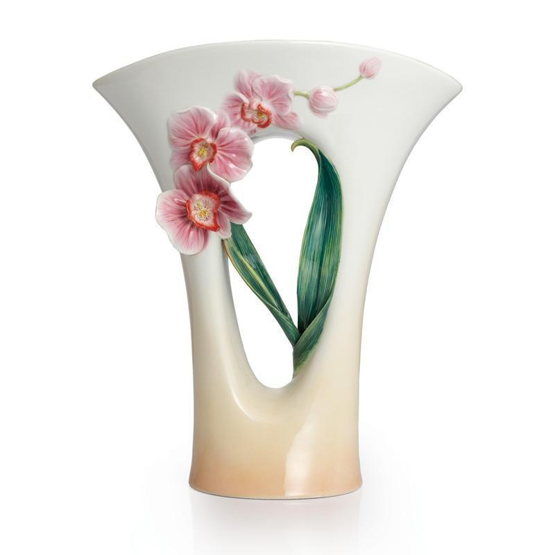 Franz Collection Artist's Palette Orchid Flower Mid Size Vase FZ02332