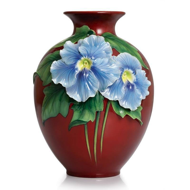 Franz Collection Artist's Palette Sky Flower Mid Size Vase FZ02330