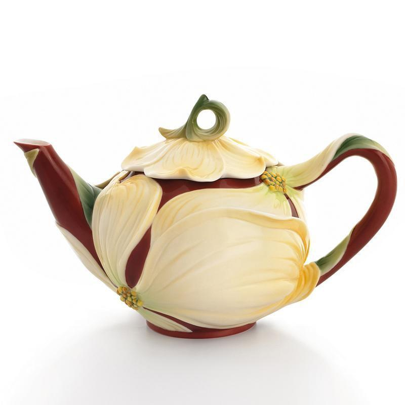 Franz Collection Autumn Memories Dogwood Teapot FZ01662