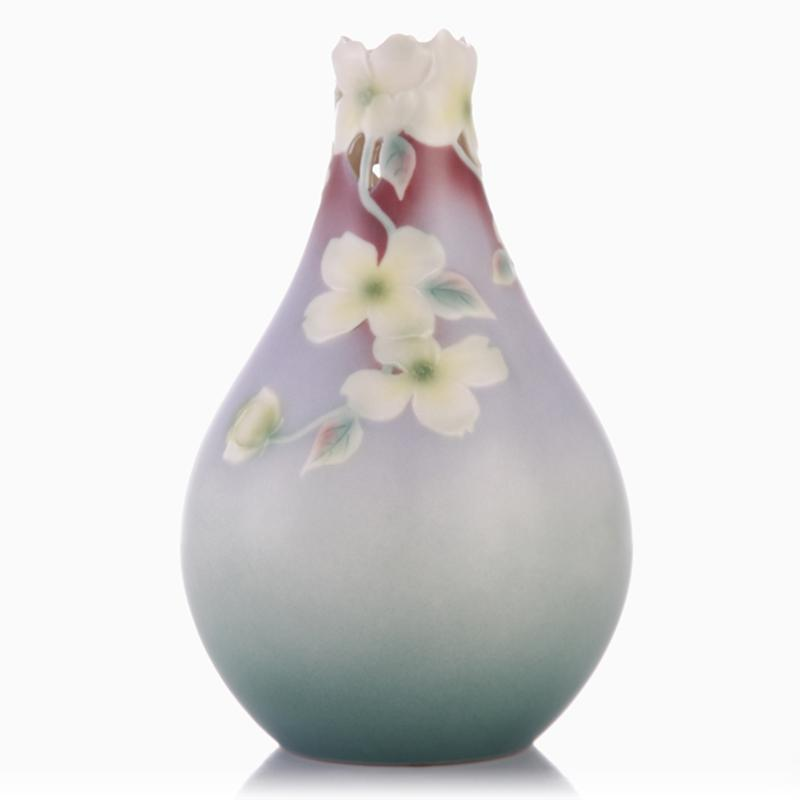 Franz Collection Autumn Memories Dogwood Teardrop Vase XP1812