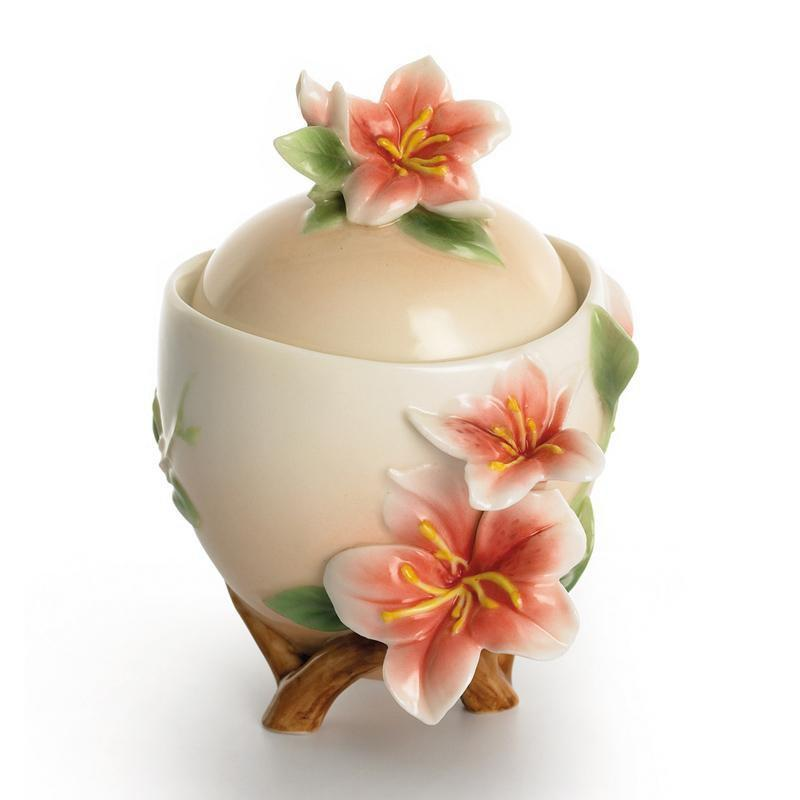 Franz Collection Azalea Sugar Jar FZ01337