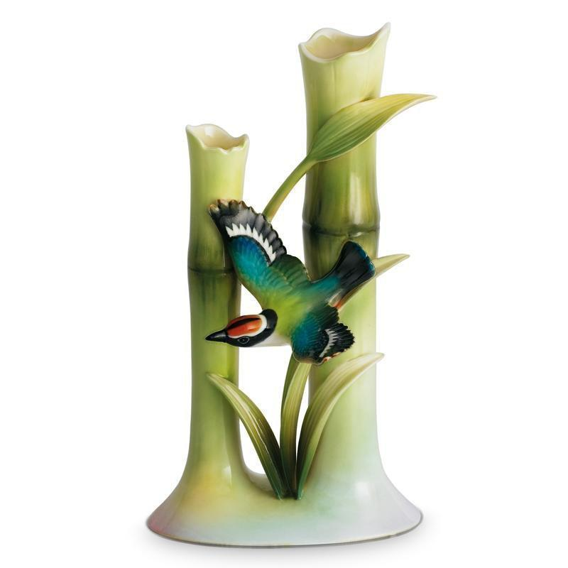 Franz Collection Bamboo Song Bird Bud Vase FZ00568