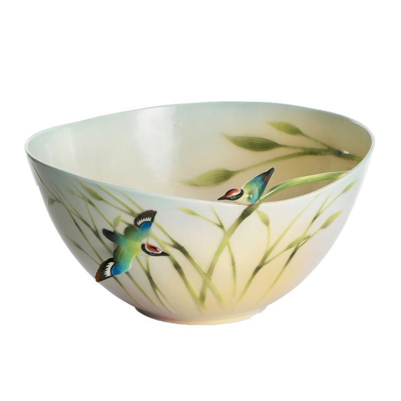 Franz Collection Bamboo Song Bird Large Bowl FZ01305