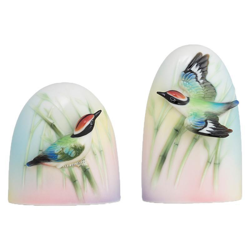 Franz Collection Bamboo Song Bird Salt & Pepper Shakers FZ01692