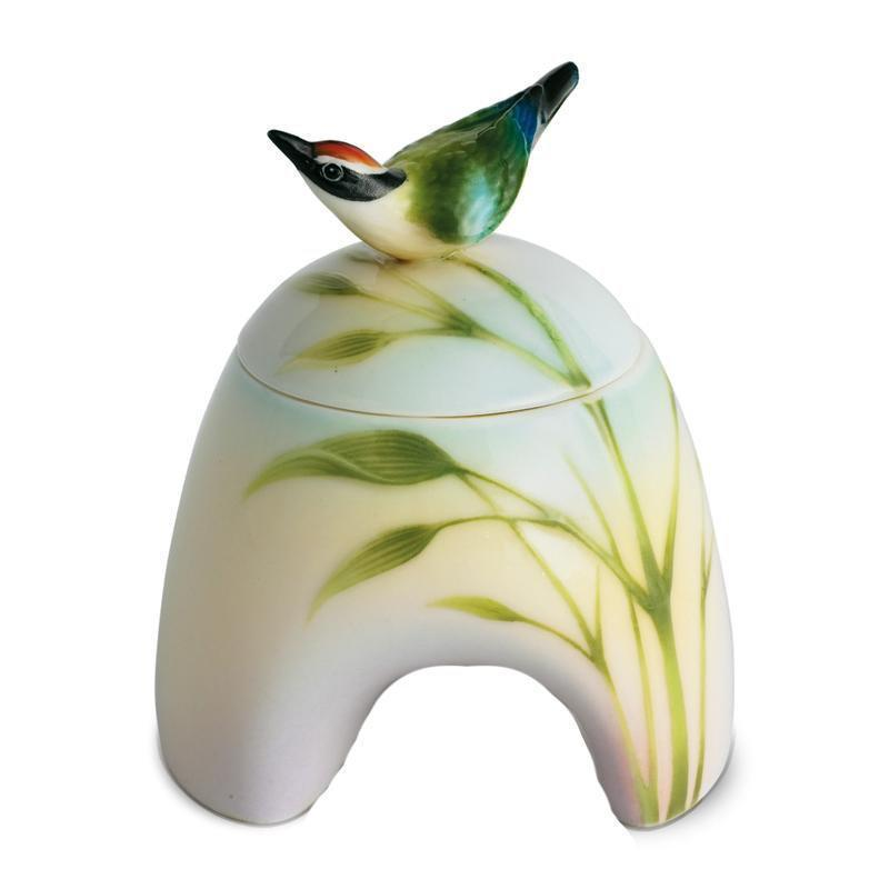 Franz Collection Bamboo Song Bird Sugar Jar FZ00763