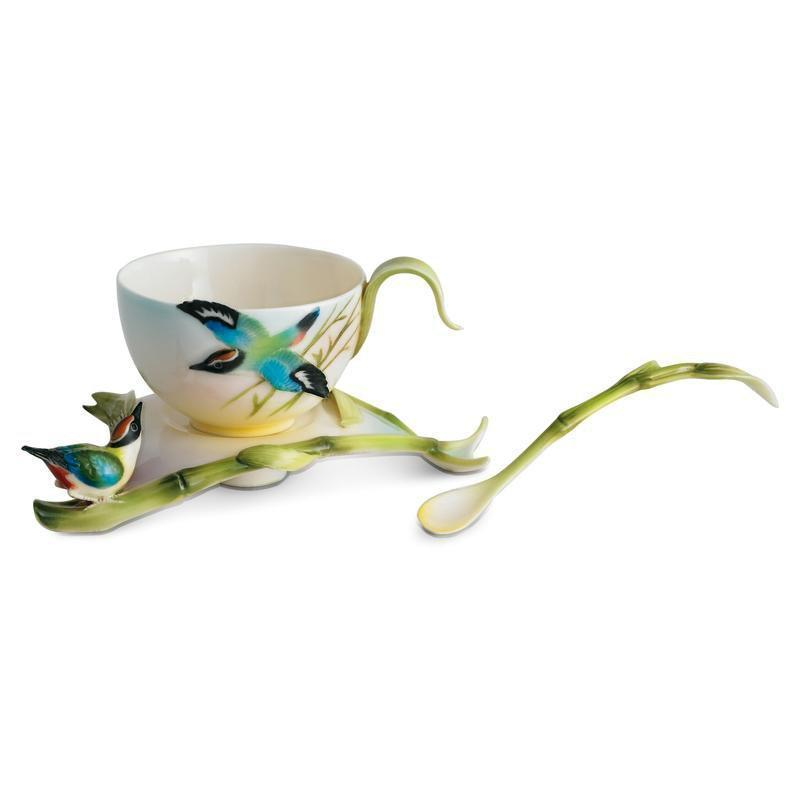 Franz Collection Bamboo Song Bird Teacup & Saucer FZ00570
