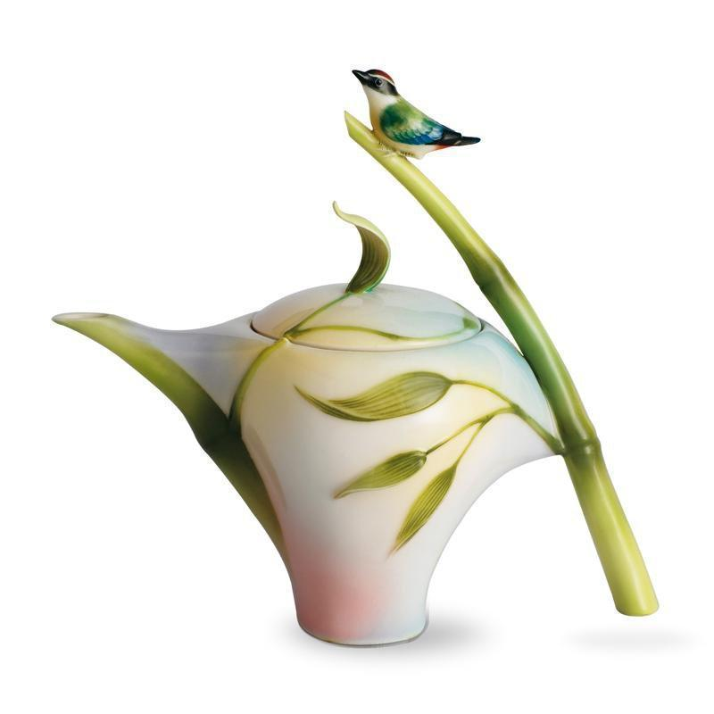Franz Collection Bamboo Song Bird Teapot FZ00573